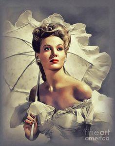 Virginia Painting - Virginia Huston, Vintage Actress by John Springfield Female Stars, Hot Actresses, Movie Stars, Virginia, Beautiful People, Instagram Images, Wall Art, Celebrities, Fictional Characters