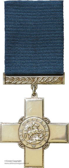 George Cross (GC). Awarded to the highest gallantry award for civilians, the GC is also awarded to military personnel for those acts for which military honours would not normally granted, such as acts of gallantry not in presence of the enemy.