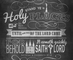 Stand Ye in Holy Places 2013 YM/YW Theme
