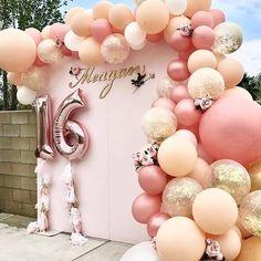 Rose Gold Sweet 16 Birthday Banner