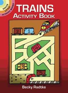 Kids will love to climb on board and follow this activity-packed track to fun! Over 40 puzzles include mazes, crosswords, follow-the-dots, word searches, find-the-difference pictures, and much more. Solutions included.