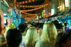 Crowded Street of Chinatown