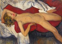 Zinaida Serebriakova Study of a Sleeping Girl