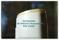 Home-made All Natural Deodorant with men and women's fragrances
