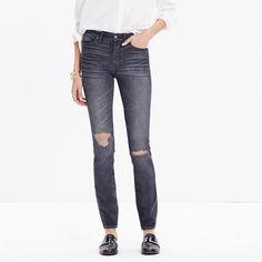 """Madewell - 9"""" High Riser Skinny Skinny Jeans in Kincaid Wash"""