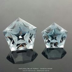 Love these natural blue topaz gemstones cut by @bespokegems. What do you think?