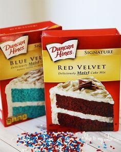 Duncan Hines Red Velvet Blue Cake Mix