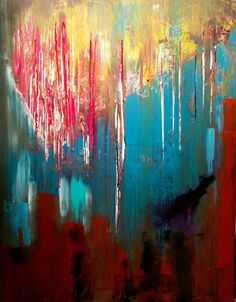 ARTFINDER: My Styl. Acrylic painting // abstract... by Mo Tuncay - art painting // abstract painting // original painting // Large wall art // 28x36 inches -Mo Tuncay Interview about me , : http://janebled.wordpress.co...