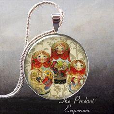 Babushka Dolls pendant