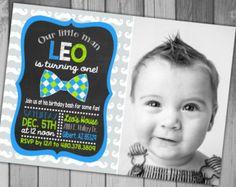 Baby Boy First Birthday Invitation Boy First by CLaceyDesign