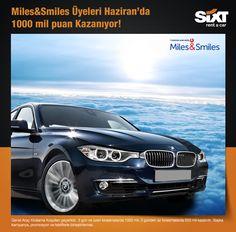 Miles&Smiles üyeleri Haziran ayında 3 gün ve üzeri kiralamalarında 1000 mil puan kazanıyor! www.sixt.com.tr #sixt #sixtrentacar #sixtturkey #kiralıkaraç