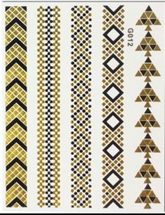 Temporary metallic Tattoos, very nice. Gold Tattoo, Metal Tattoo, Flash Tattoos, Temporary Tattoos, Metallic, Art, Pop Of Color, Fur, Colors