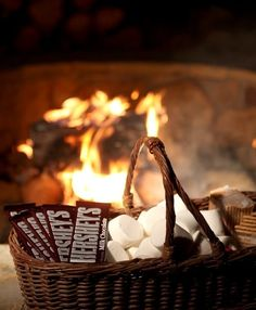 Relax and enjoy s'mores by the fire!
