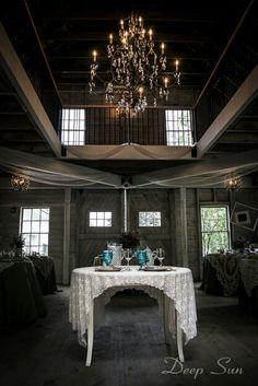 Barn wedding sweetheart table