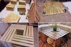 Faire une table basse avec des caisses de bois!