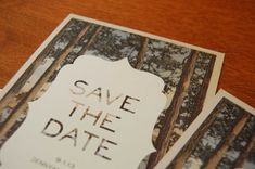 Woodsy Save the Date postcard by tupyboutique on Etsy, $2.00
