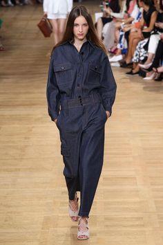 Spring 2015 Fashion Trend:Slouchy-Cool Denim-on-Denim - Chloé spring 2015 -  Glamour.com
