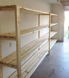 "3,306 Likes, 155 Comments - Ana White (@anawhitediy) on Instagram: ""Two ingredient garage shelves! Sharing today my must build garage storage solutions. #anawhite…"""