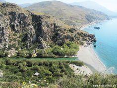 Preveli Palmenstrand, bei Plakias, Kreta (Crete)