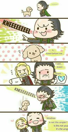 Thor and Loki younger