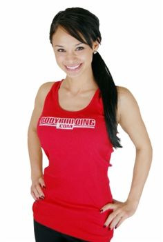 Red women's tank from Bodybuilding.com, on clearance for only $7.99.  #fitness #clothing #exercise