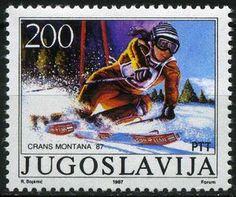 Yugoslavia Stamp 1987 - Alpine Skiing