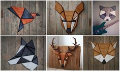 Want to have animal's head on the wall but don't want to shoot them? Tomasz Ciurka have a solution! He make them from pine wood with his own hands. All of them are created by connecting geometric polygons. It takes him about 3 hours to complete one pet. It's really nice DIY project because you n