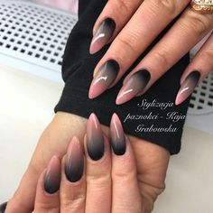 Fingernägel 17 erstaunliche Nail Art Ideen - # Nageldesign How To Survive As A Working Parent Basic Stiletto Nail Art, Acrylic Nails, Cute Nails, Pretty Nails, Hair And Nails, My Nails, Faded Nails, Nailart, Glitter Manicure