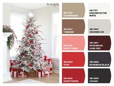 ColorSnap by Sherwin-Williams – ColorSnap by Jennifer C. Vintage Holiday, Dark Red, Moroccan, Basement, Christmas Tree, Holiday Decor, Brown, Colors, Pictures