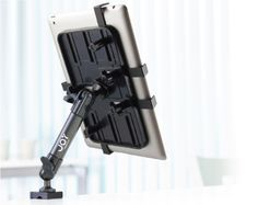 This Universal Tablet Mount, C-Clamp Mount is compatible with most 7 to 11 inch tablets and clamps to either square or round surfaces.