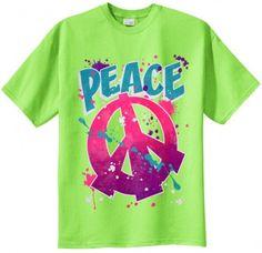 Big Mens Peace Paint Graphic T-Shirt