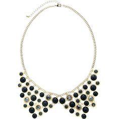 Collar Chandelier Bubble Bib Epoxy & CZ Statement Necklace Retro Fashion Jewelry
