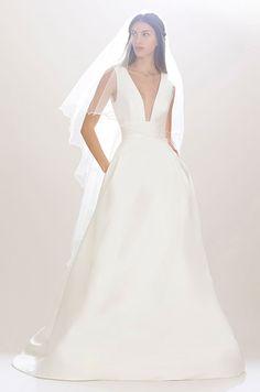 Modern chic wedding dress, Carolina Herrera Fall 2016 Bridal Collection