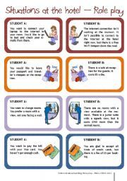 English worksheet: Situations at the hotel -Complaining - Role play