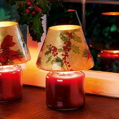Scented Christmas candle