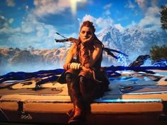 Horizon Zero Dawn: Photo Mode allows for fun poses mid-game.