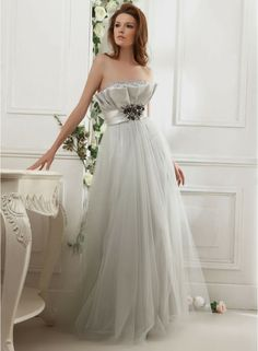 Charming Dolce Satin A-line One Shoulder Strap Neckline Wedding Dress With Beautiful Design | A Line Wedding Dresses With Sweetheart Neckline