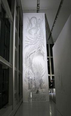 Paper Cut Tapestries by Tomoko Shioyasu  70 Creative Examples of Paper Art -Design Bump