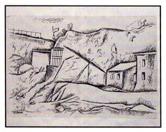 Carlo Carrà, La casa del pescatore (1924)  Acquaforte su rame - Popsophia 2012 - www.popsophia.it