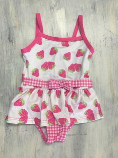 Penelope Mack Strawberry Print Swimsuit 18m