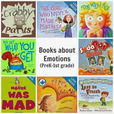 Books about Emotions- recommendations on books that will help kids deal with big feelings.for Lincoln 2016 Preschool Books, Book Activities, Joseph Activities, Emotions Activities, Good Books, My Books, Social Emotional Learning, Social Skills, Social Work