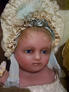 Likely Montenari, 27 inch Poured English Wax Doll