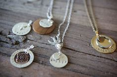 Handcrafted Jewelry inscribed with your words of affection and endearment. Memories forever of special moments