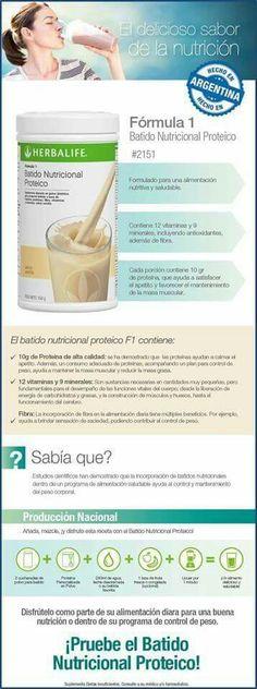 Llegó el día ... F1 Proteico Hecho en Argentina, Producción Nacional! www.facebook.com/HSHerba.life www.herbalhs.com               (011) 15 2318-9795             #Nutrición #Herbalife #ControldePeso #DietaSaludable #ProductosHerbalife #BajardePeso #VidaActiva #Deporte