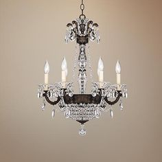 "Schonbek La Scala Heirloom Bronze 21""-W Crystal Chandelier"
