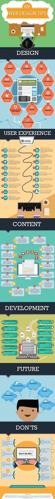 69 tips om het design van je website te verbeteren [infographic]