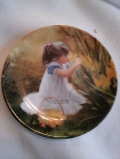 "DONALD ZOLAN PLATE FLOWERS FOR MOTHER  3 1/2"" VINTAGE COLLECTIBLE"
