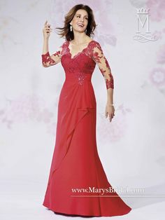 Lace Sleeves Gown