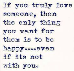 Sometimes you have to let go for love.