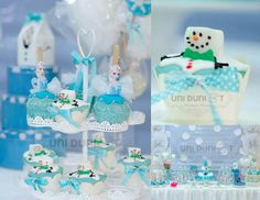 Frozen themed birthday party #frozen #frozenparty Kids Girl Blue